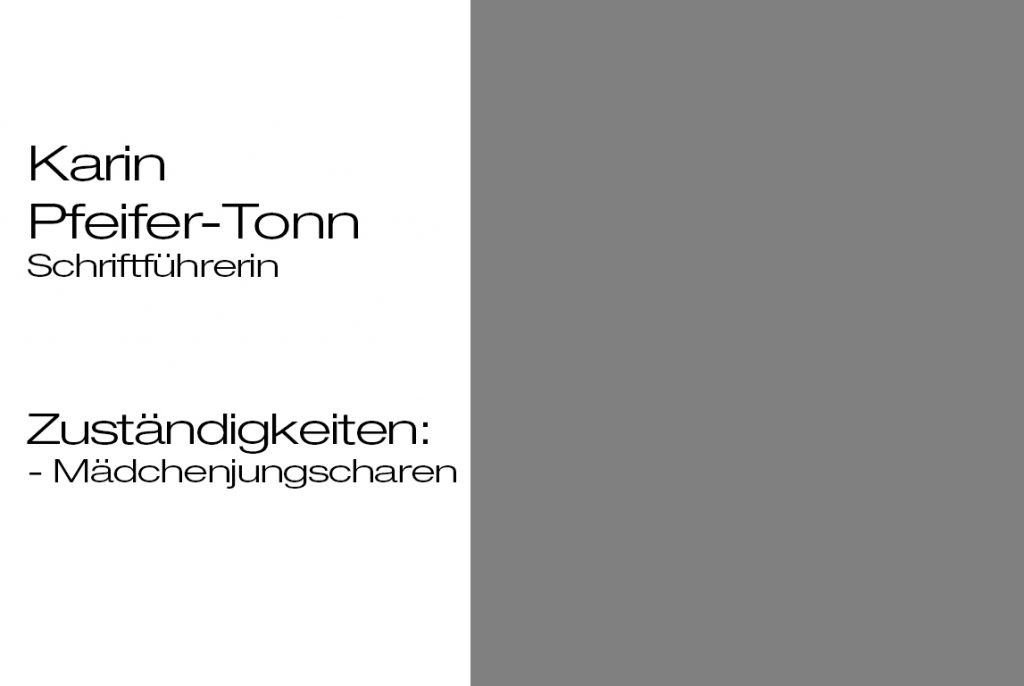 Schriftführerin Karin Pfeifer-Tonn
