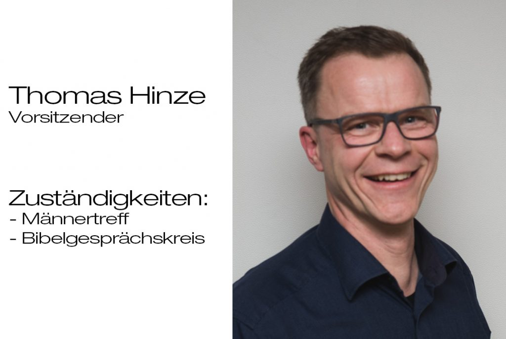 Vorsitzender Thomas Hinze